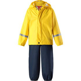Reima Tihku Rain Outfit Kids Yellow